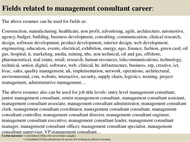 top tier management consulting firms. management consulting resume ...
