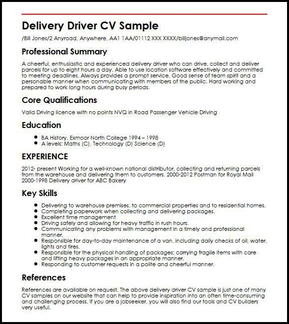 Warehouse Delivery Driver Cover Letter