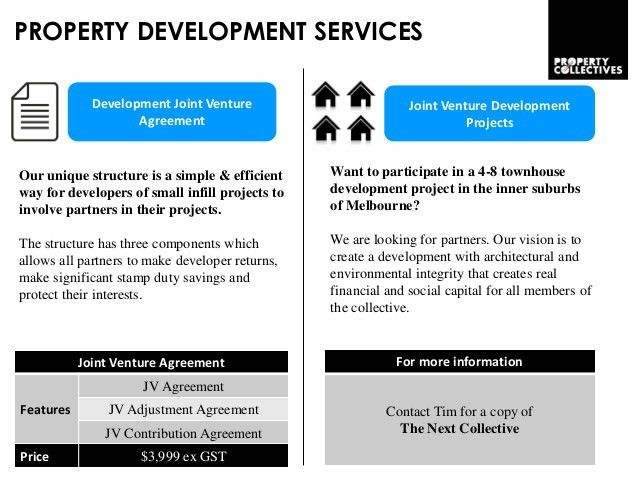 Property Collectives investment syndicate and joint venture developme…