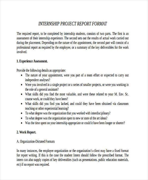 9+ Internship Report Examples, Samples