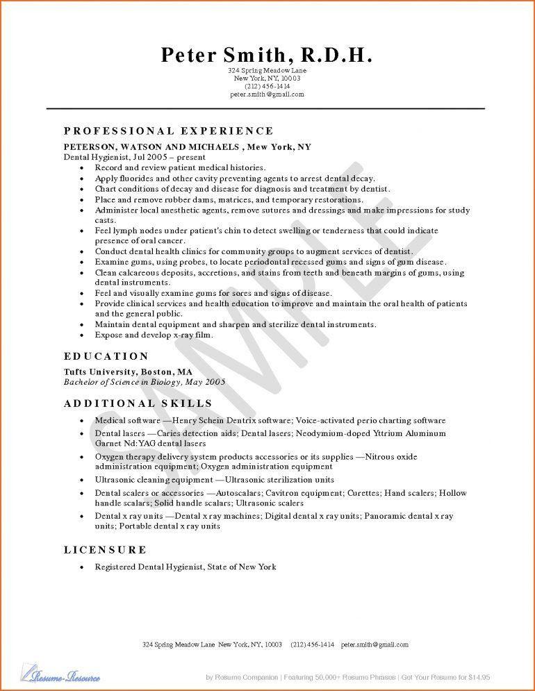 Dental Hygienist Resumes Resume - Schoodie.com