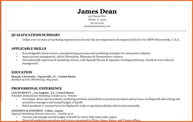 10+ what does a simple resume look like - Budget Template Letter