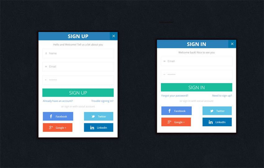 Flat Trendy Signup Forms Widget Template by w3layouts
