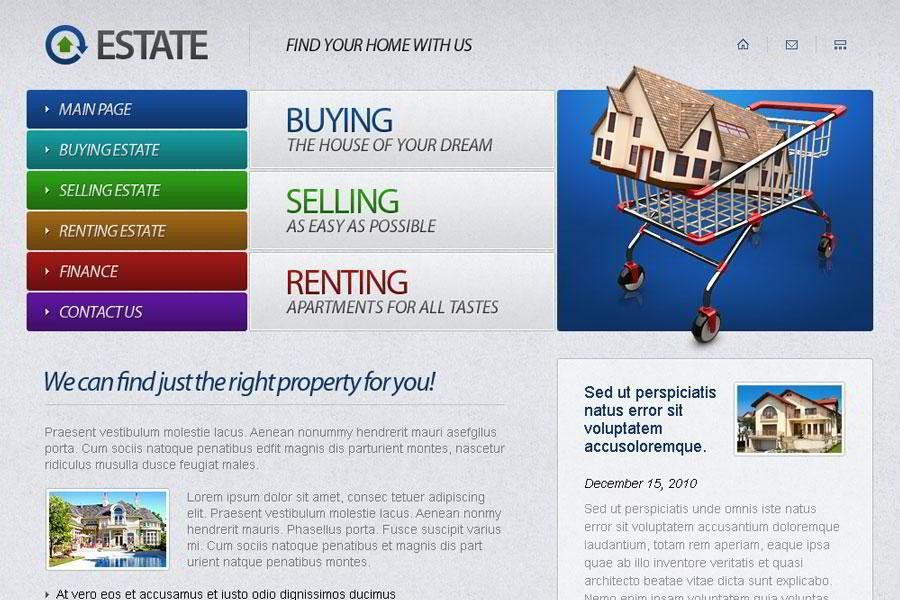 Free Real Estate Website Template - MonsterPost