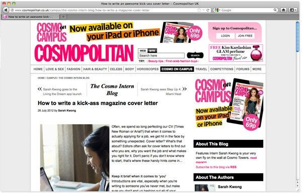 The Round-Up: Cover letters | GoThinkBig