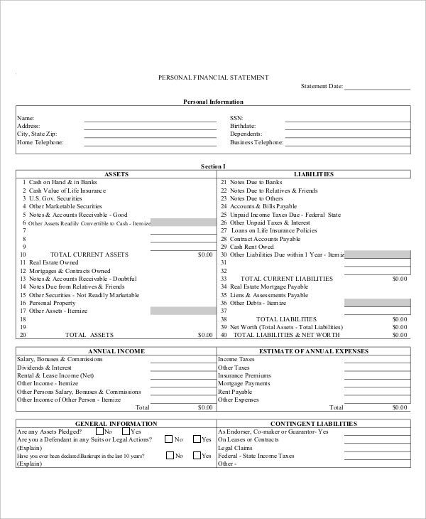Income Statement Template - 9+ Free Excel, PDF Documents Download ...
