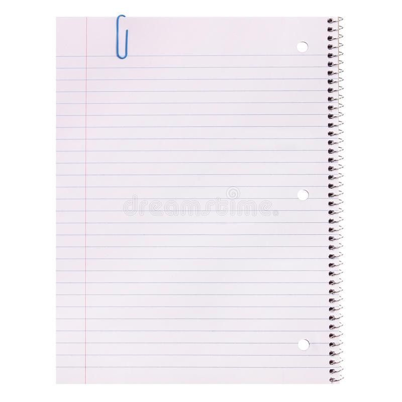 Notebook Paper Isolated. Lined Blank Stock Photo - Image: 43756933