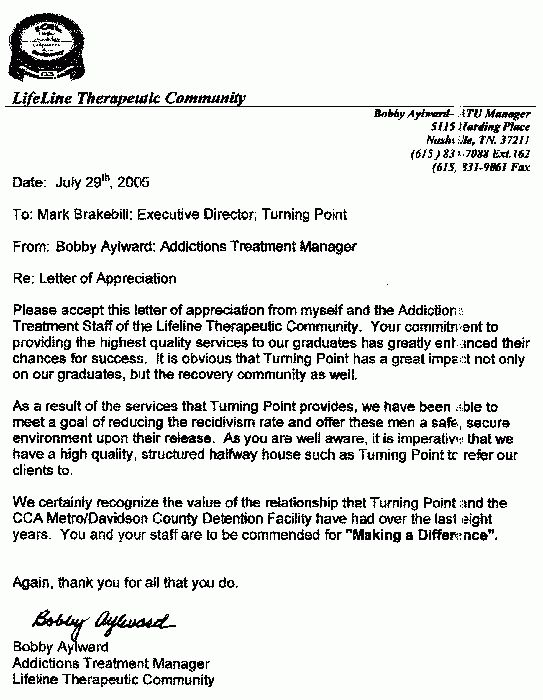 Turning Point Recovery Residence Inc. - References