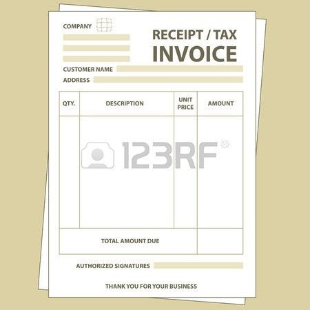 Illustration Of Unfill Paper Tax Invoice Form Royalty Free ...