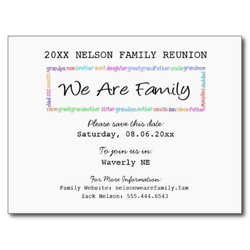 2016 We Are Family-Family Reunion Save the Date Postcard | Family ...