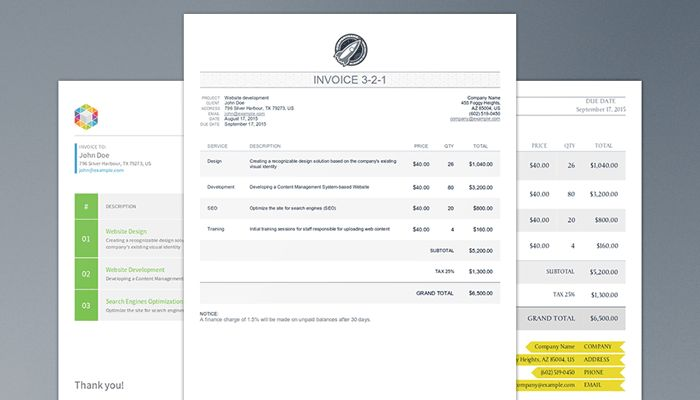 Html Invoice Template Free | invoice example