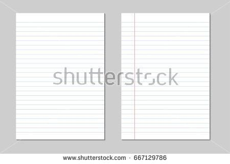 Set Vector Sheets Lined Paper Border Stock Vector 667129786 ...