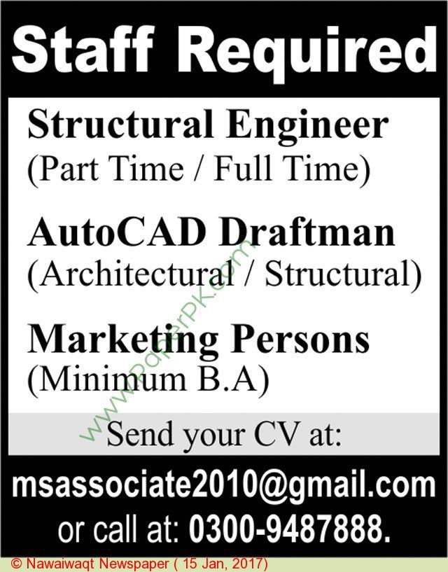 Structural Engineer,auto Cad Draftsman Jobs In Pakistan on 15 ...