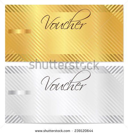 Voucher Gift Certificate Coupon Template Stripe Stock Vector ...