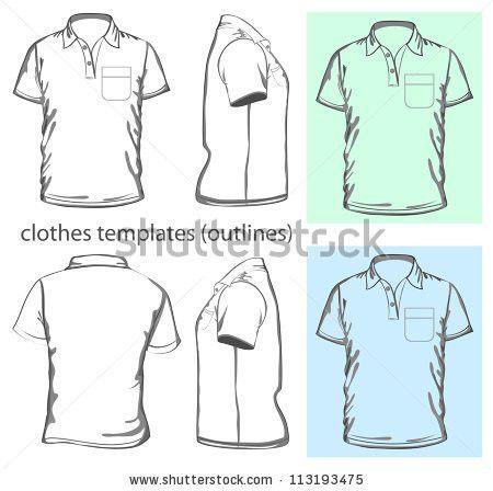 Vector Mens Vneck Long Sleeve Tshirt Stock Vector 98437046 ...