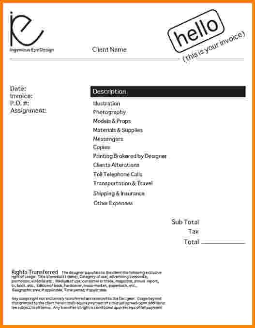 Sample Freelance Invoice. Sample Service Invoice 10 Free Freelance ...