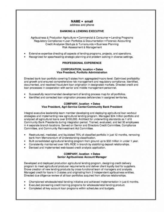 commercial banker resumes template. resume templates relationship ...