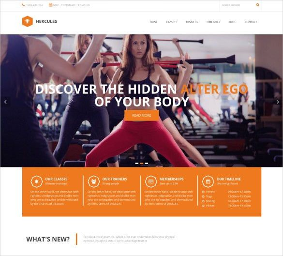 28+ Fitness Website Themes & Templates | Free & Premium Templates