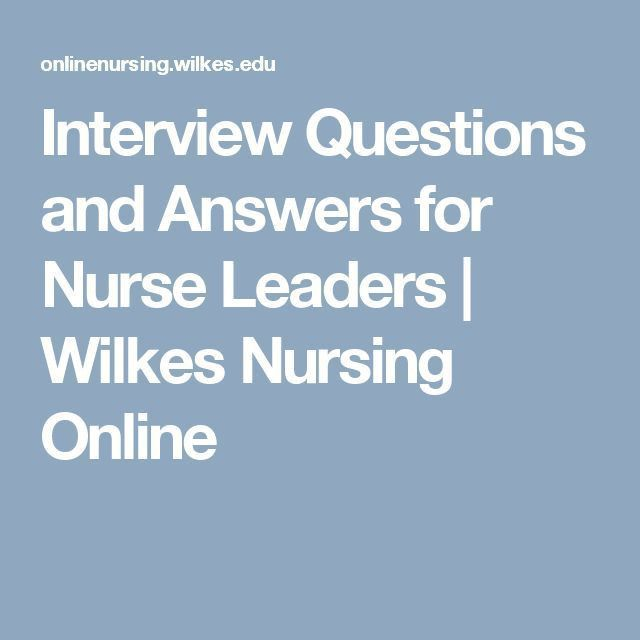 The 25+ best Interview questions for nurses ideas on Pinterest ...