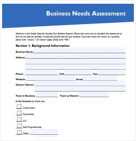 Sample Needs Assessment - 8+ Documents in PDF, Word