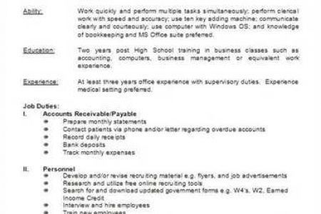 Subway Job Description Resume - Reentrycorps