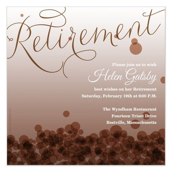 Free Retirement Invitation Templates - marialonghi.Com