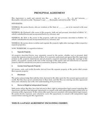 Prenuptial Agreement Template. Prenuptial Agreement Thailand ...