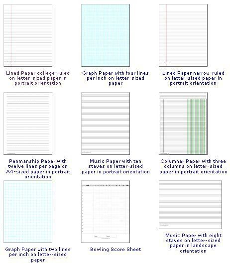 Ruled Papers - Stationeryinfo.com