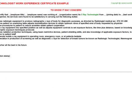 Resume Treat Sample X Ray Tech Resume Tea X Ray Tech Resume ...