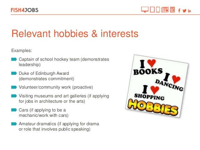examples of hobbies and interests on resume interests to put on ...