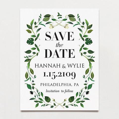 Save The Date postcards | Printable Press