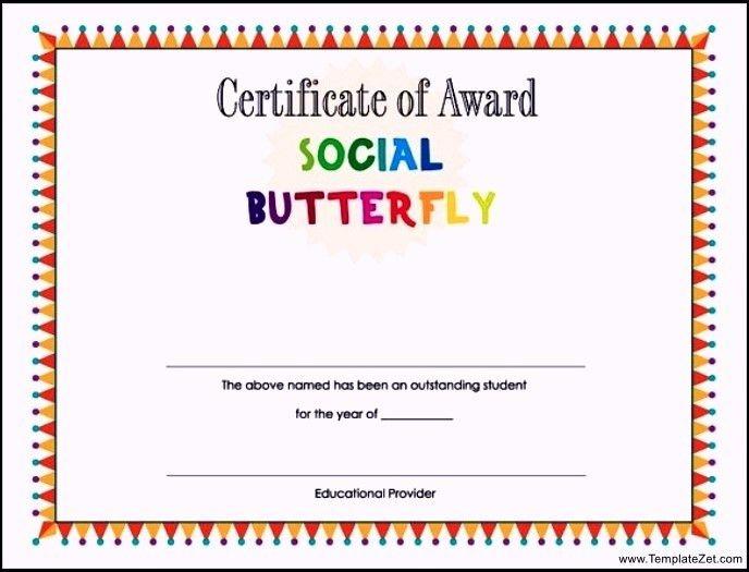 student award certificate template