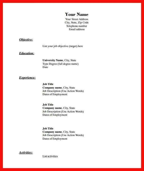 Job Resume Template Pdf. Pdf Resume Template Hr Fresher Resume Pdf ...