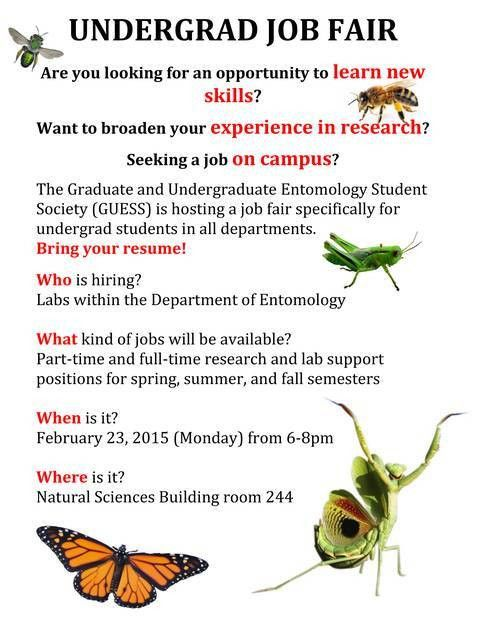 First-ever Undergraduate Job Fair hosted by Entomology and GUESS ...