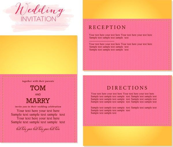 Editable wedding invitations free vector download (3,686 Free ...