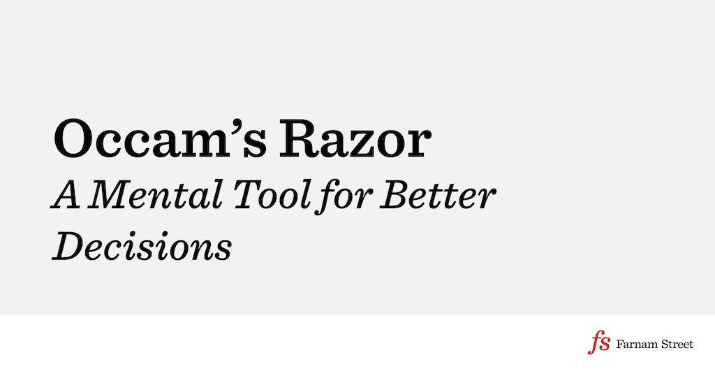 Mental Model: Occam's Razor