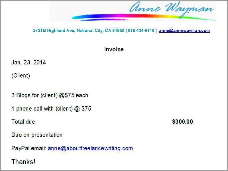 6 Tips for Creating Freelance Writing Invoices with Actual Sample ...