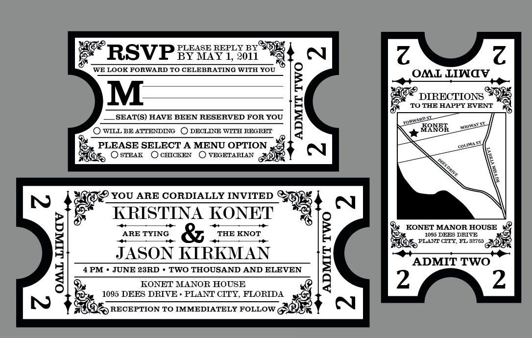 Awe-inspiring Movie Ticket Wedding Invitations | THERUNTIME.COM