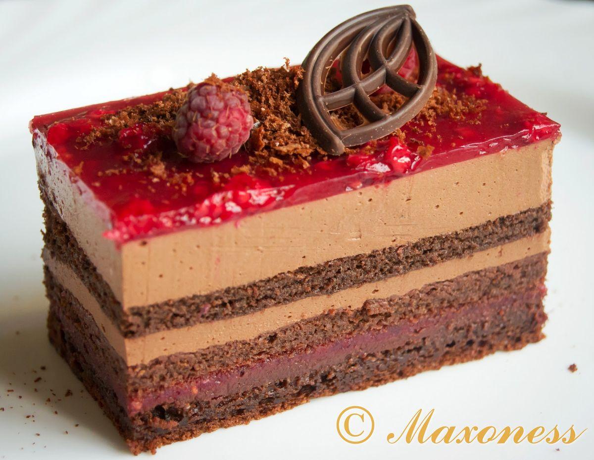Фото рецепт малиновый торт