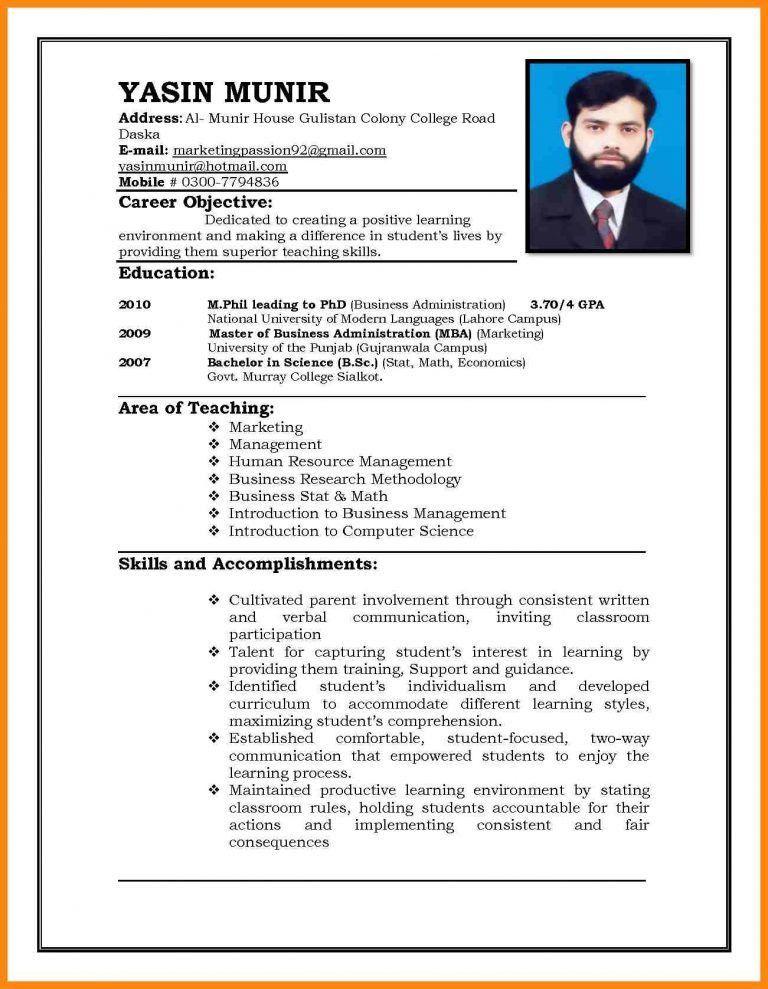 Download Teaching Jobs Resume Sample | haadyaooverbayresort.com