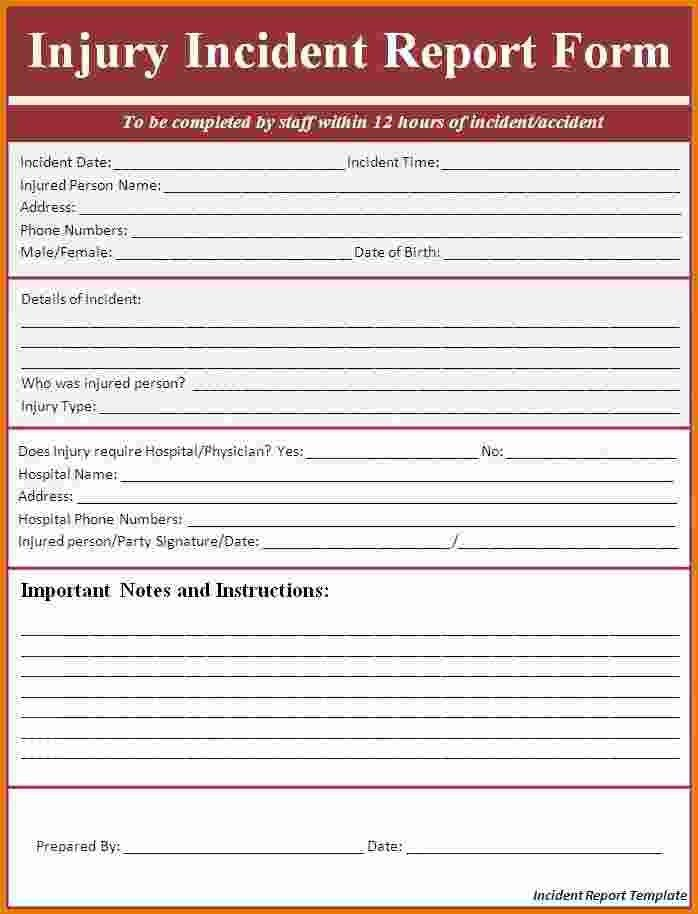 7+ Employee Incident Report Template   Expense Report