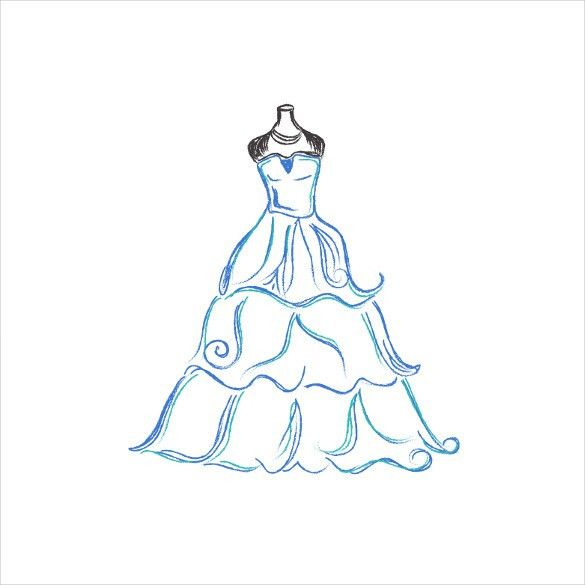 Wedding Dress Patterns – 21+ Free EPS, AI, Illustration Format ...