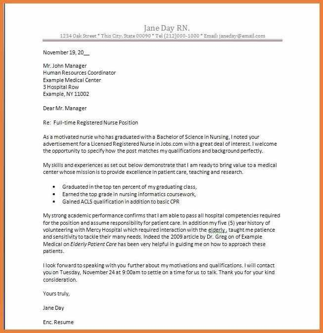 100+ New Nurse Cover Letter Sample | Nursing Assistant Cover ...