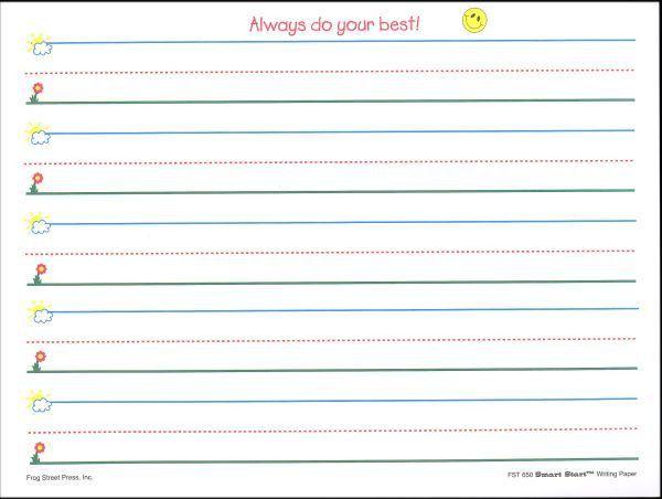 Smart Start K-1 Writing Paper 100 sheet pack (007420) Details ...
