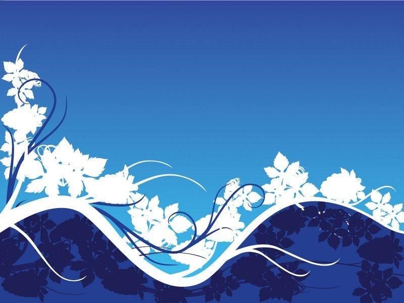 Clouds Flowers Spring Powerpoint Templates - Aqua / Cyan, Blue ...