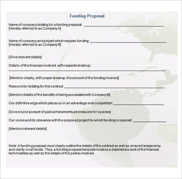 Fund Proposal Template. project proposal template how to write a ...
