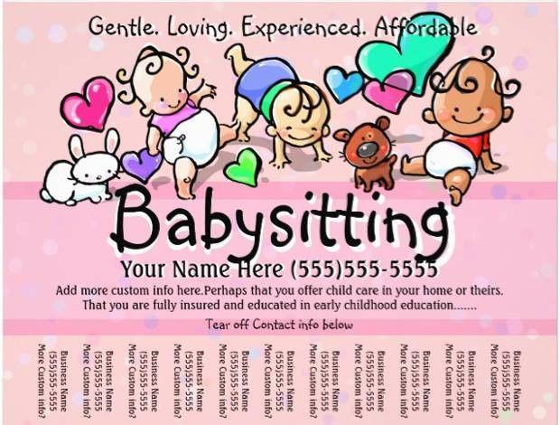 15+ Babysitter Flyer Templates - Printable PSD, AI, Vector EPS ...