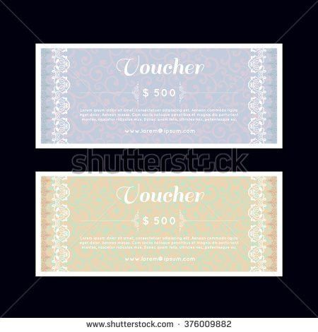 Discount Coupon Gift Voucher Gift Certificate Stock Vector ...