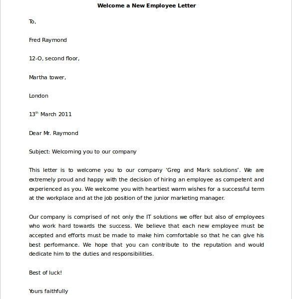 Sample Welcome Letter. Click Here To View Welcome Letter — Daily ...