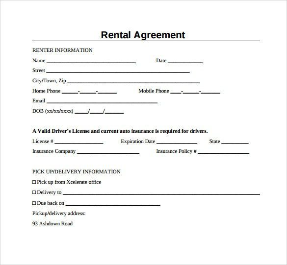 Basic Rental Agreements. 7+ Basic House Rental Agreement | Target ...